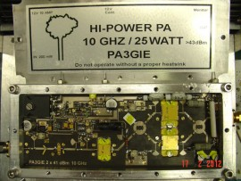 10 GHz 3CM High-Power PA 200mWatt > 25Watt