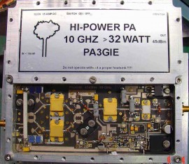 3cm High Power PA 32 Watt>45dBm out 10mW in